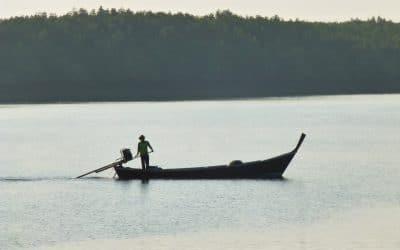 Traditional Thai Long-tail Boat on Andaman Sea