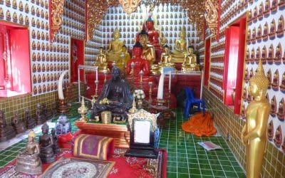 Buddha Statues Inside Wat Oopakoot