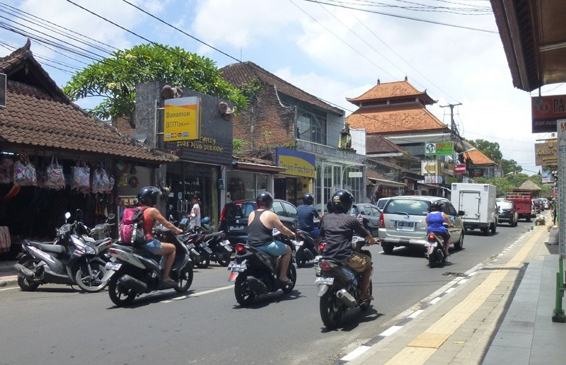 First Motorbike Ride in the Crazy Traffic of Ubud Bali
